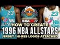 Download NBA 2K17 | 1996 NBA ALL STAR JERSEYS + COURT TUTORIAL BEST VERSION! HD LOGOS INCLUDED FOR DOWNLOAD Video