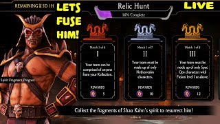 Download Mortal Kombat Mobile Live Stream. Relic Hunt Gameplay. Can We Fuse Shao Kahn AGAIN??? Video