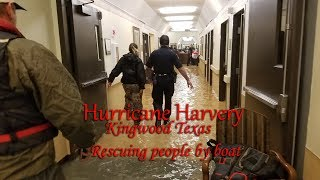 Download Hurricane Harvey flooding rescues in Kingwood Texas. Video