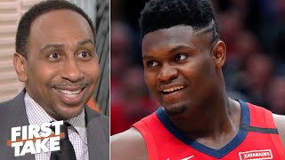 Download Stephen A. reacts to Zion Williamson's NBA debut | First Take Video