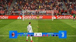 Download AC Milan vs Juventus FC | Penalty Shootout | PES 2019 Gameplay PC Video
