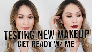 Download GRWM: Testing New Makeup (Drugstore & High End) | ttsandra Video