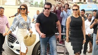 Download Salman Khan अपनी दोनों Gf Jacquiline और Lulia Vantur के साथ एंट्री मारी Race 3 - Allah Duhai लांच पर Video