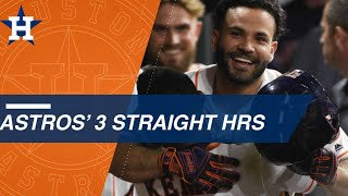 Download George Springer, Alex Bregman and Jose Altuve belt back-to-back-to-back home runs Video