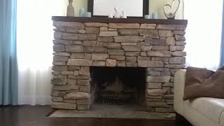 Download Install Stone veneers over old brick fireplace DIY Video