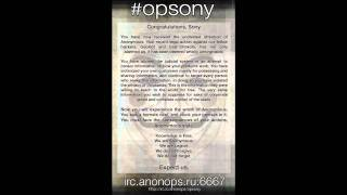 Download Operation Payback brings you #OpSony Video