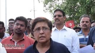Download Kiran Bedi Scolding Puducherry Officials in Bus stand Video