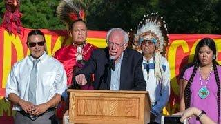 Download Bernie Sanders Joins Dakota Access Pipeline Protest Video