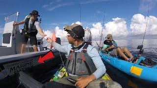 Download MARINE POLICE ″BOARDS″ KAYAK FISHERMAN - WHATS IN THE COOLER? + Barracuda/Spanish Mackerel Blitz Video
