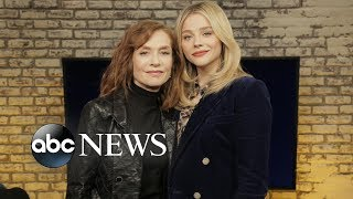 Download Isabelle Huppert's psycho 'Greta' role scared wits out of co-star Chloë Grace Moretz Video