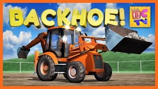 Download Learn About a Backhoe | Construction Vehicles for Children Video