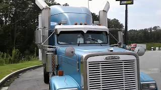 Download The Worlds Largest Stacks On An 18 Wheeler Tractor -Freightliner Classic Video