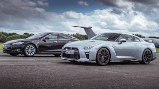 Download Tesla Model S P90D vs Nissan GT-R - Top Gear: Drag Races Video