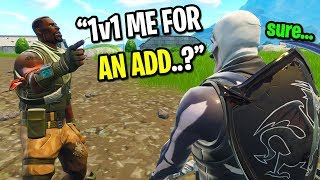 Download I left fill on Fortnite playground mode to 1v1 NOOBS for a friend request... (EMOTIONAL) Video