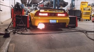 Download Honda NSX Supercharged - Dyno & 2Step FLAMES!! Video