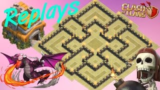 Download Best Th7 War Base 2018 With Replays Anti Dragon Anti Hog Anti 3 Star Anti 2 Star With 3 Air Defense Video