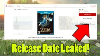 Download Zelda Breath of the Wild Release Date Leaked by Target! Video