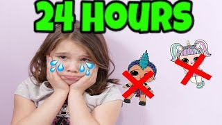 Download 24 Hours with No LOL Dolls! 24 Hour Challenge in My Room Video