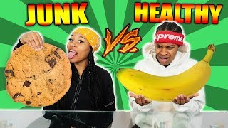 Download HEALTHY VS JUNK FOOD CHALLENGE! Video