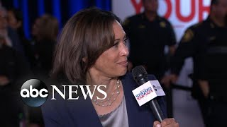 Download Harris defends work as prosecutor after she's questioned during debate Video