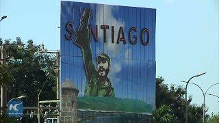 Download Santiago de Cuba ready for funeral of Fidel Castro Video