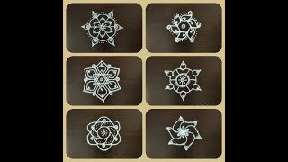 Download SMALL, SIMPLE & EASY RANGOLI DESIGNS/Kolam designs with 5 x 3 dots/5 dots easy rangoli/Quick rangoli Video