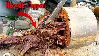 Download How to recycle motor remove copper winding motor core scrap the copper out of an electric motor. Video