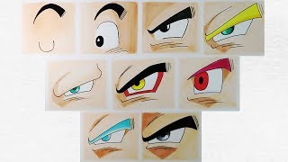 Download Cómo dibujar los ojos de Goku en todas sus fases | How to draw the eyes of Goku in all its phases Video