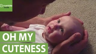 Download Baby girl has emotional reaction to daddy's singing Video