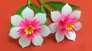 Download How to Make Beautiful Flower with Paper - Making Paper Flowers Step by Step - DIY Paper Flowers #19 Video
