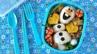 Download Olaf Bento Lunch Box (Disney FROZEN Do You Wanna Build A Snowman?) オラフ弁当 - OCHIKERON Video