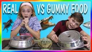 Download DISGUSTING REAL FOOD VS GUMMY FOOD SWITCH UP CHALLENGE | We Are The Davises Video