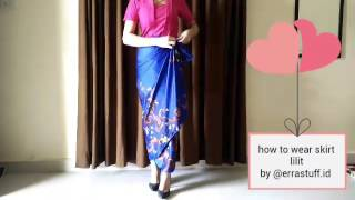 Download How to wear kain lilit instan by @errastuff.id Video