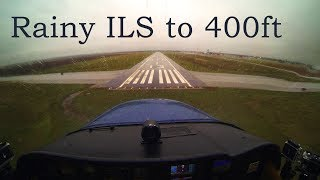 Download Full IFR Flight - ILS to 400ft, Rain, Solid IMC Video