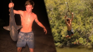 Download BULLSHARK Catch n Cook!!! - caught at popular Rope Swing! Video