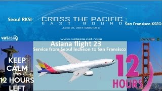Download 12 hours of Vatsim in HD: Cross the Pacific PMDG 777-200LR Video