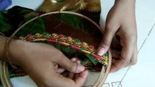 Download Fixing ready blouse to embroidery frame tutorial Video