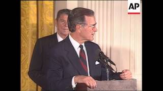 Download President George H. W. Bush unveils portraits of Ronald and Nancy Reagan Video