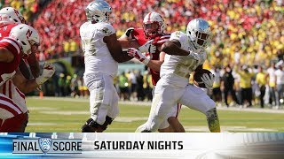 Download Highlights: Oregon football starts fast, hangs on late to beat Nebraska, 42-35 Video
