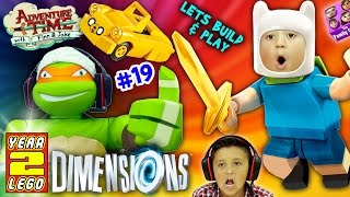 Download ADVENTURE TIME w/ NINJA TURTLES! Land of Ooo Level (Let's Build & Play LEGO Dimensions YEAR 2 #19) Video