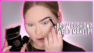 Download TESTING THE WEIRDEST BROW PRODUCT: Eyebrow Cushion?! Video