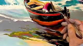 Download Barque de pêcheur sur la plage Video