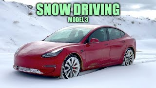 Download How Does The Tesla Model 3 Handle Snow? Video