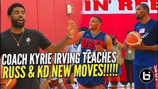 Download Kyrie Irving Teaches Russell Westbrook and Kevin Durant New Moves at USA Basketball! Video