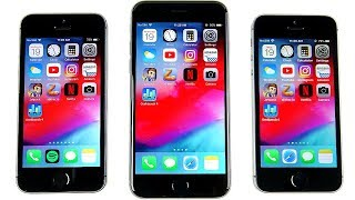 Download iPhone 5S vs iPhone 6 vs iPhone SE iOS 12 Speed Test! Video