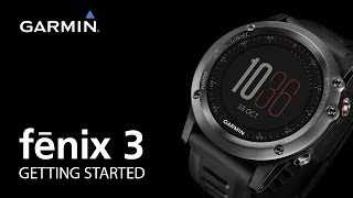 Download fenix 3: Getting Started Video