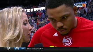 Download Kent Bazemore breaks down Atlanta Hawks' win over Washington Wizards in Game 3 of NBA Playoffs Video