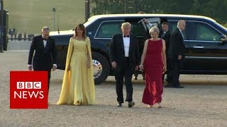 Download Trump arrives at Blenheim Palace - BBC News Video