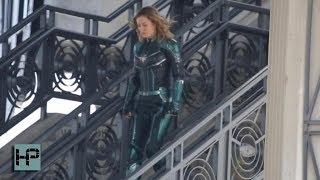Download Brie Larson Filming 'Captain Marvel' in LA Video
