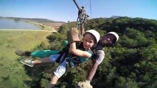 Download Zip lining at Lake Eland - Oribie Gorge Video
